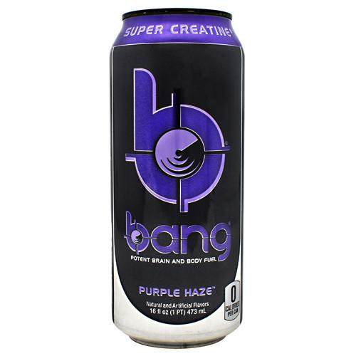 Bang, Purple Haze, 12 per Case - 16 fl oz (1 PT) 473 ml