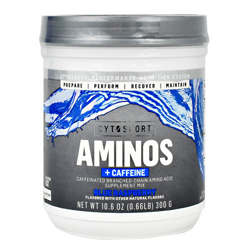 Aminos + Caffeine, Blue Raspberry, 25 Servings
