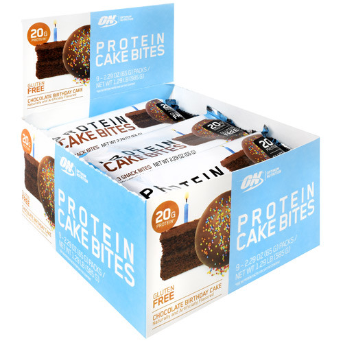 Cake Bites,chocolate  Birthday Cake, 9 (2.22 oz) Packs