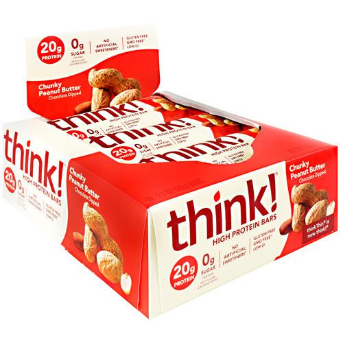 High Protein Bars, Chunky Peanut Butter, 10 - 2.1 oz (60g) bars