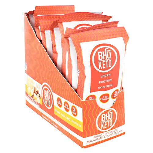 Bhu Keto, White Chocolate Macadamia Cookie Dough, 8 Bars 1.6 Oz (45g)