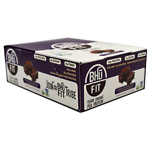 Bhu Fit Bar, Superfood Chocolate Chip + Fudge Brownie Batter, 12 Bars