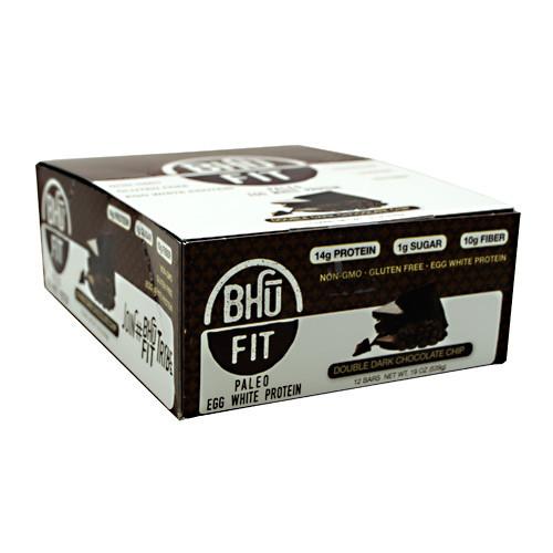 Bhu Fit Paleo, Double Dark Chocolate Chip, 12 bars- 19 oz (539g)