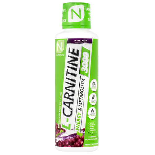 L-carnitine 3000, Grape Crush, 16 FL OZ
