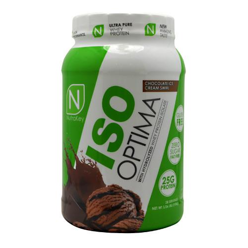 Iso Optima, Chocolate Ice Cream Swirl, 2 lbs