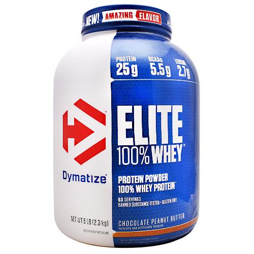 Elite 100% Whey, Chocolate Peanut Butter, 5 lbs (2.3 kg)