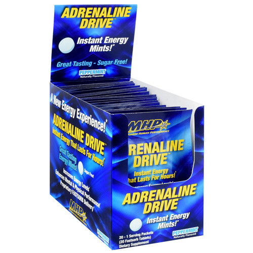 Adrenaline Drive, Peppermint, 20 (1 Serving Fastsorb Tablet) Packets