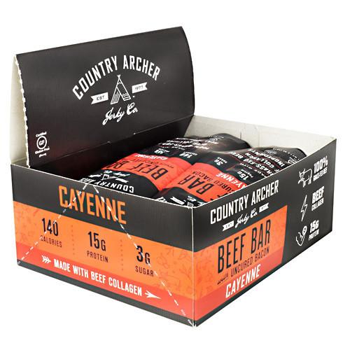 Beef Bar With Collagen, Cayenne, 12 (1.5 oz) Bars