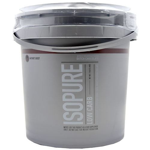 Low Carb Isopure, Dutch Chocolate, 7.5 lbs