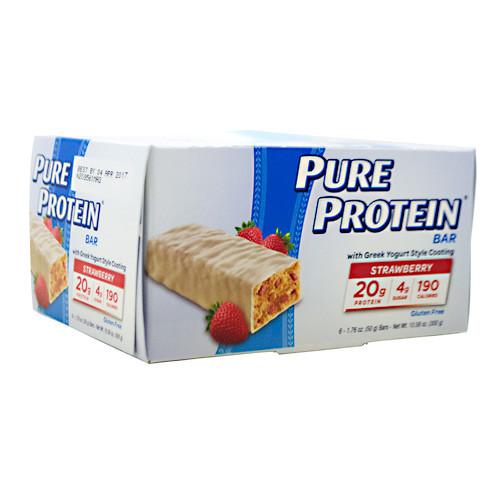Pure Protein Bar, Greek Yogurt Strawberry, 6 (50 g) Bars