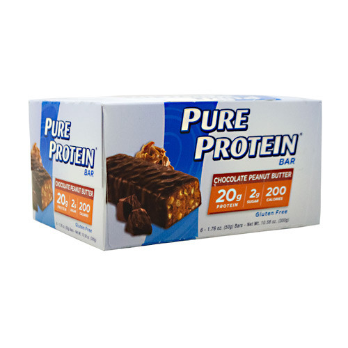 Pure Protein Bar, Chocolate Peanut Butter, 6 (50 g) Bars