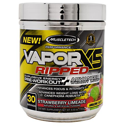 Vaporx5 Ripped, Strawberry Limeade, 30 Servings (6.50 oz)