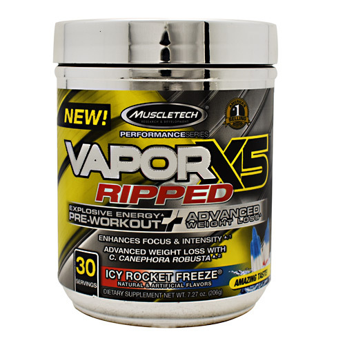 Vaporx5 Ripped, Icy Rocket Freeze, 30 Servings (7.27 oz)
