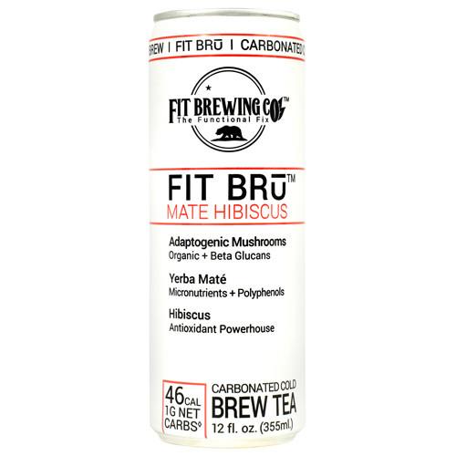 Fit Bru, Mate Hibiscus, 12 (12 fl oz) Cans