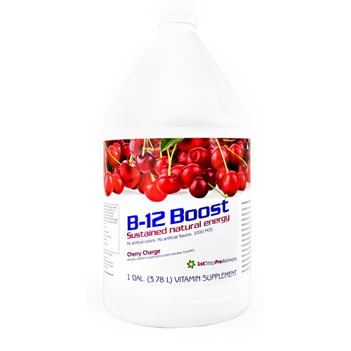 B-12 Boost, Cherry Charge, 1 Gallon (3.78 L)