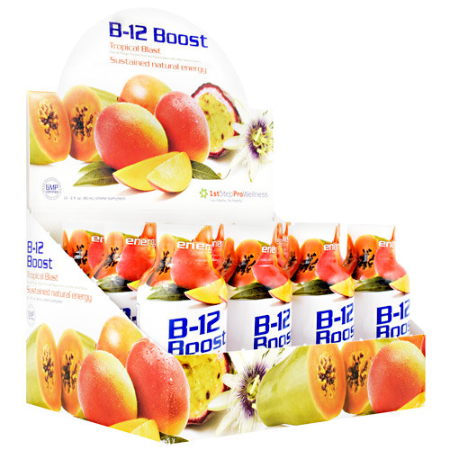 B-12 Boost, Tropical Blast, 12 (2 fl oz)bottles