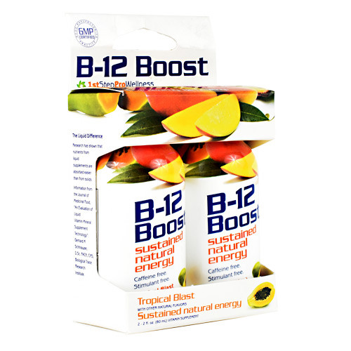 B-12 Boost, Tropical Blast, 2 (2 fl oz) Bottles