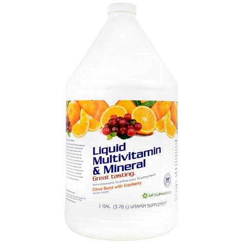 Liquid Multivitamin & Mineral, Citrus Burst With Cranberry, 1 Gal (3.78 L)