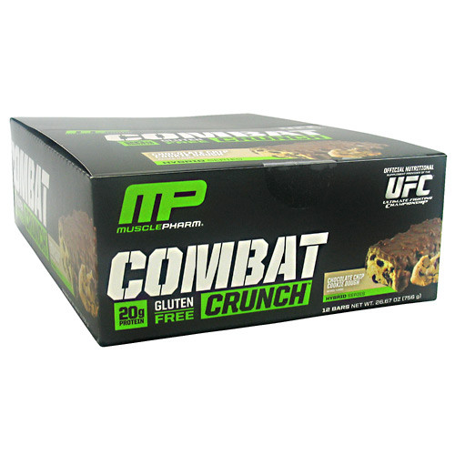 Combat Crunch, Chocolate Chip Cookie Dough, 12 Bars