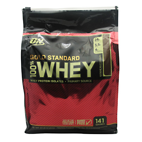 100% Whey, Extreme Milk Chocolate, 10 lb (4.54 kg)