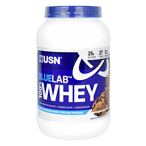 Blue Lab 100% Whey, Peanut Butter & Choc Chip Cookie, 2 LBS