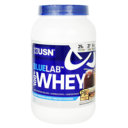 Blue Lab 100% Whey, Peanut Butter And Jelly, 2 lbs. (907.2 g)