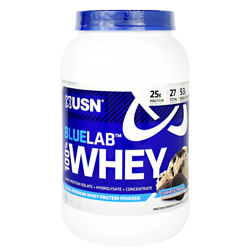 Blue Lab 100% Whey, Cookies & Cream, 2 lbs. (907.2 g)