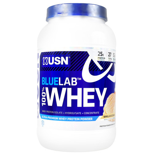 Blue Lab 100% Whey, Vanilla Ice Cream, 2 lbs. (907.2 g)