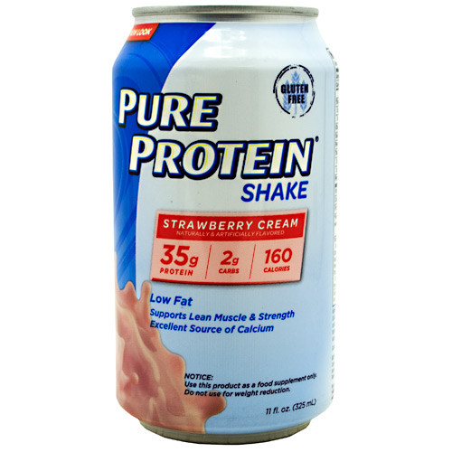 Pure Protein Shake, Strawberry Cream, 12 (11 fl. oz.) Cans