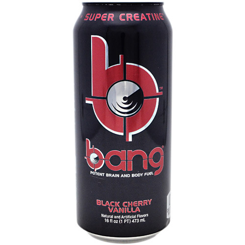 Bang, Black Cherry Vanilla, 12 per Case - 16 fl oz (1 PT) 473 ml