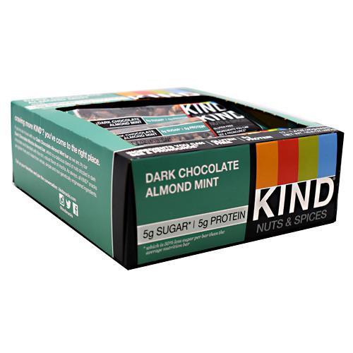 Kind Nuts & Spices, Dark Chocolate Almond Mint, 12 - 1.4 oz Bars
