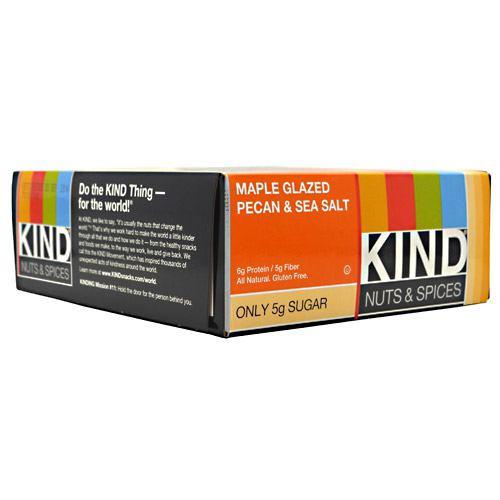 Kind Nuts & Spices, Maple Glazed Pecan & Sea Salt, 12 Bars