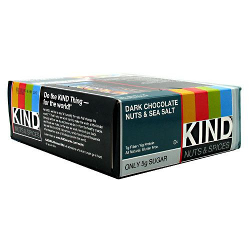 Kind Bar, Dark Chocolate Nuts & Sea Salt, 12 bars per box