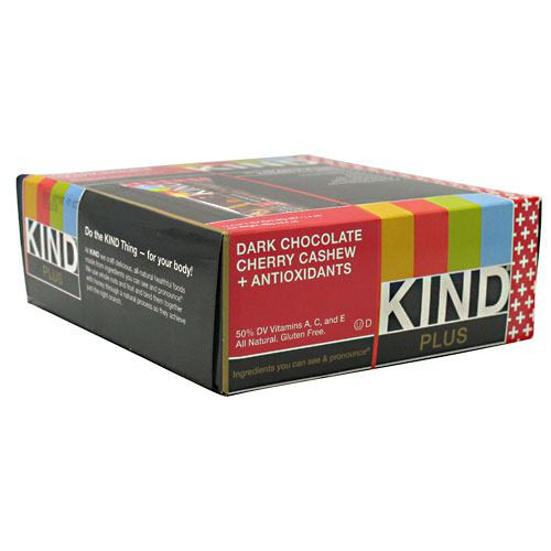 Kind Plus, Dark Chocolate Cherry Cashew + Antioxidants, 12 - 40g/1.4 oz bars [480g (16.8 oz)]