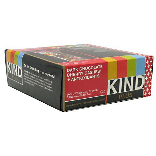 Kind Plus, Dark Chocolate Cherry Cashew + Antioxidants, 12 - 40g/1.4 oz bars [480g (16.8 oz)]