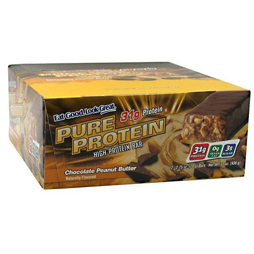 High Protein Bar, Chocolate Peanut Butter, 12 - 2.75 oz (78 g) bars [33 oz (936 g)]