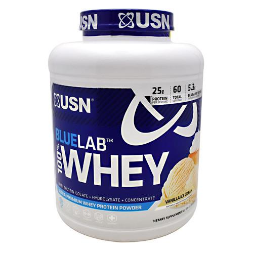 Blue Lab 100% Whey, Vanilla Ice Cream, 4.5 lbs (2041 g)