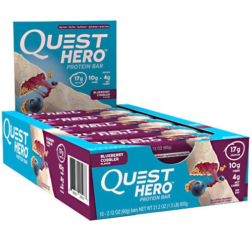 Hero Bar, Blueberry Cobbler, 10 - 2.12 oz Bars