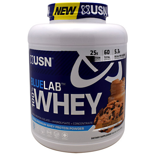 Blue Lab 100% Whey, Peanut Butter & Choc Chip Cookie, 4.5 LBS