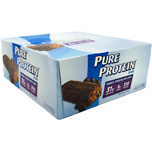 High Protein Bar, Chewy Chocolate Chip, 12 - 2.75 oz (78 g) bars [33 oz (936 g)]