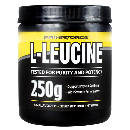 L-leucine, Unflavored, 50 Servings (250g)