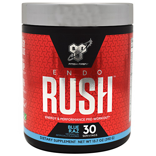 Endorush, Blue Raz, 30 Servings