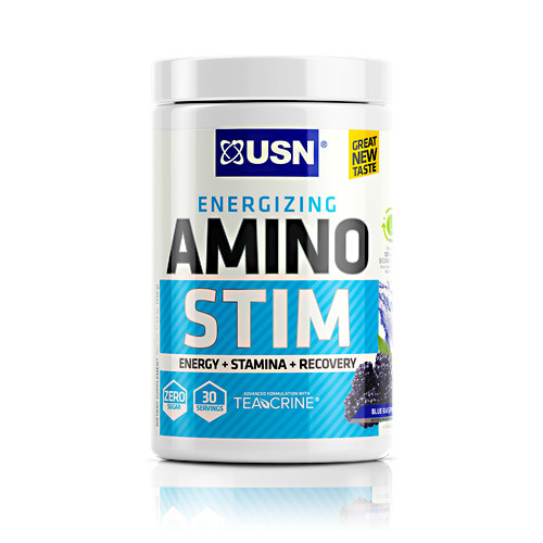 Amino Stim, Blue Raspberry, 30 servings