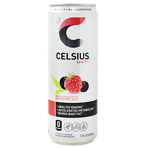 Celsius, Raspberry Acai Green Tea, 12 (12 fl oz) Cans
