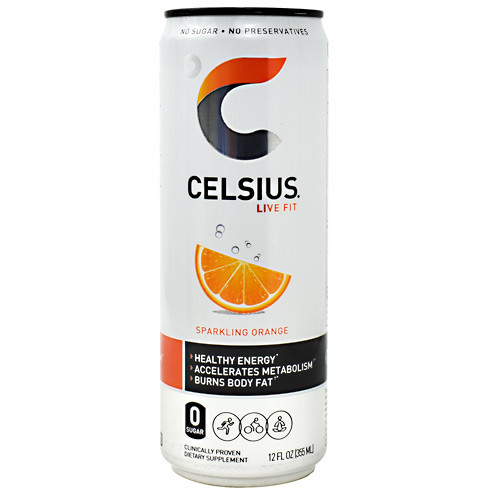 Celsius, Sparkling Orange, 12  (12 fl oz) Cans