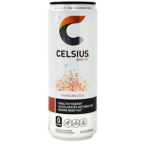 Celsius, Sparkling Cola, 12  (12 fl oz) Cans
