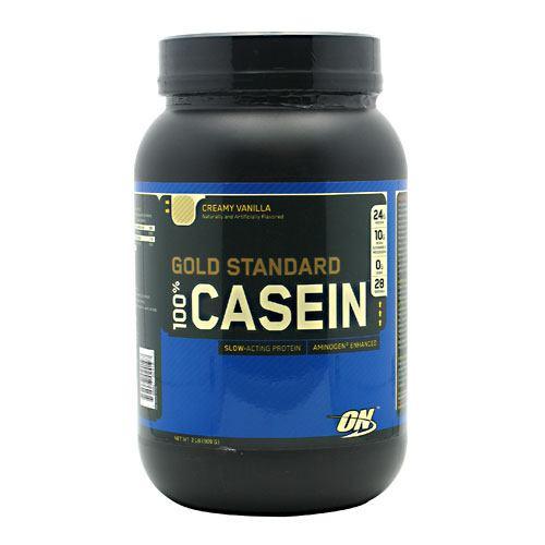 100% Casein, Creamy Vanilla, 2 lb (909 g)