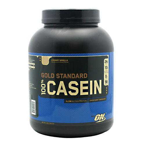 100% Casein, Creamy Vanilla, 4 lb (1818 g)