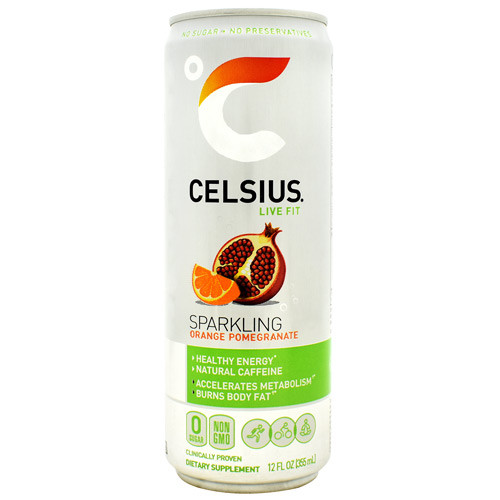 Celsius, Sparkling Orange Pomegranate, 12 - 12 fl oz. cans