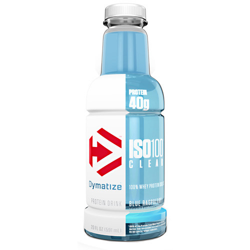 Iso100 Clear, Blue Raspberry, 12 - 20 FL OZ Bottles